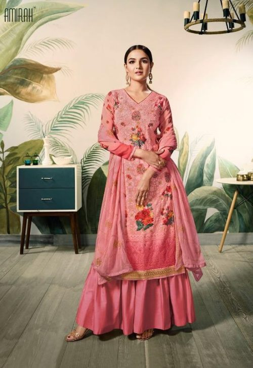 Amirah Presents Lakhnam Georgette With Lakhnam Work and Digital Print Salwar Suit 12041