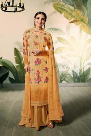 Amirah Presents Lakhnam Georgette With Lakhnam Work and Digital Print Salwar Suit 12046
