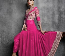 Arihant Designer Presents Hamim Vol 4 NX Georgette With Heavy Embroidery Semi-Stitched Gown 11003-D