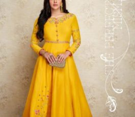 Arihant NX Presents Amorina Vol 3 Masleen Silk With Embroidery and Work Gown 22011