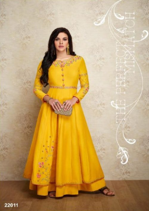 Arihant NX Presents Amorina Vol 3 Masleen Silk With Embroidery and Work Suits 22011