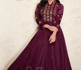 Arihant NX Presents Amorina Vol 3 Masleen Silk With Embroidery and Work Gown 22012