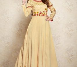 Arihant NX Presents Amorina Vol 3 Masleen Silk With Embroidery and Work Gown 22013