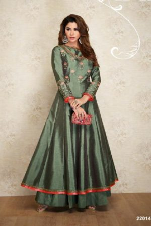 Arihant NX Presents Amorina Vol 3 Masleen Silk With Embroidery and Work Suits 22014