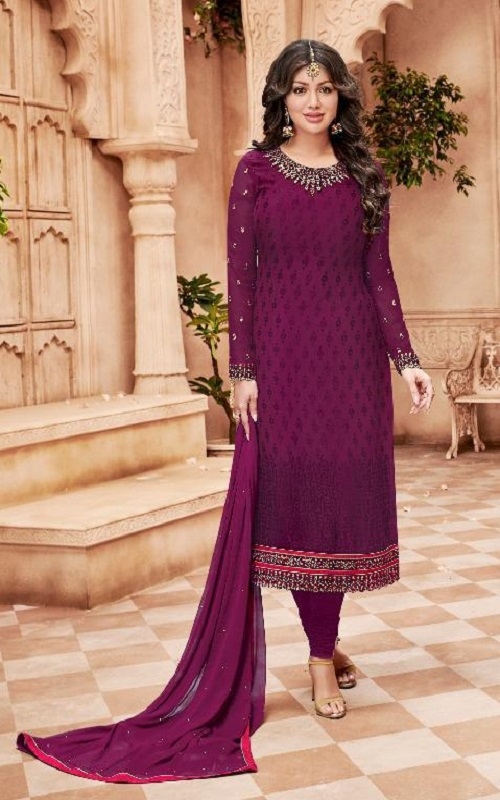Avon Trendz Presents Star Brasso Georgette With Embroidery Suit 791