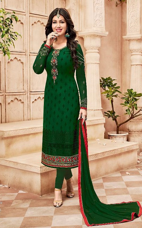 Avon Trendz Presents Star Brasso Georgette With Embroidery Suit 792