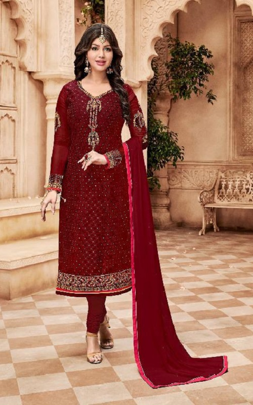 Avon Trendz Presents Star Brasso Georgette With Embroidery Suit 795