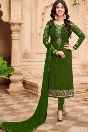 Avon Trendz Presents Star Brasso Georgette With Embroidery Suit 796