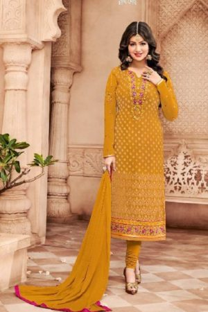 Avon Trendz Presents Star Brasso Georgette With Embroidery Suit 797