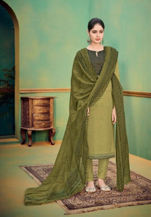 Deepsy Suits Presents Autograph 3 Pure Cotton Print With Embroidery Salwar Suit 36008