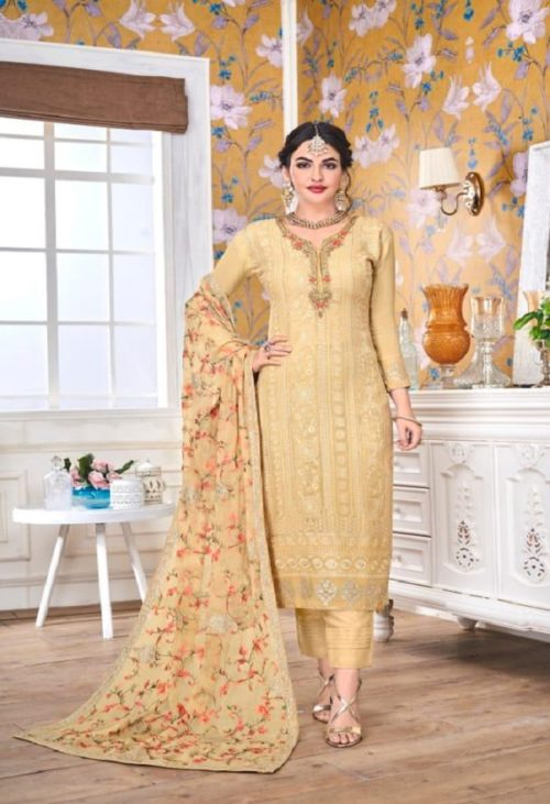 EBA Presents Hurma Vol 15 Faux Georgette with Heavy Embrodiery Work Suit 1082