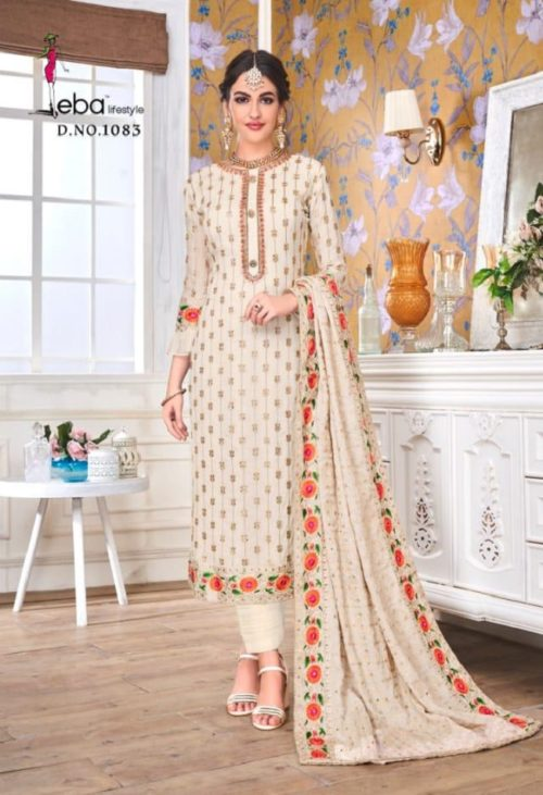 EBA Presents Hurma Vol 15 Faux Georgette with Heavy Embrodiery Work Suit 1083