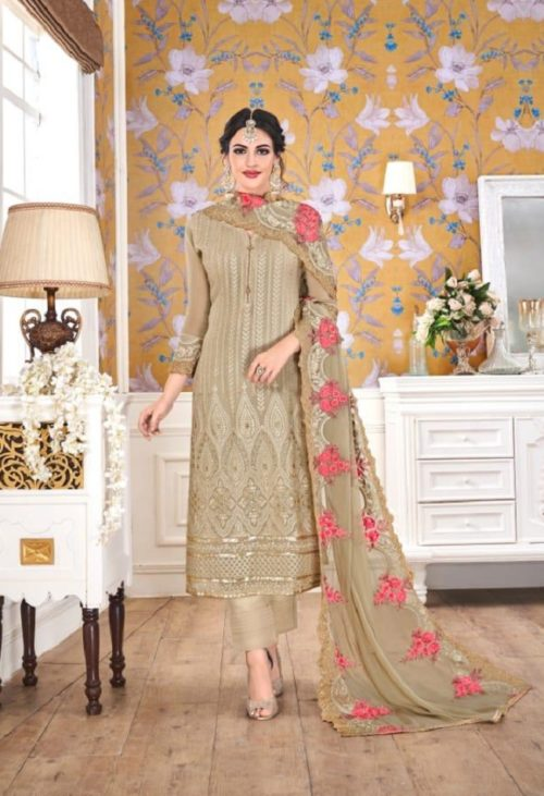 EBA Presents Hurma Vol 15 Faux Georgette with Heavy Embrodiery Work Suits 1079