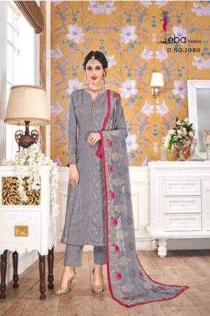 EBA Presents Hurma Vol 15 Faux Georgette with Heavy Embrodiery Work Suits 1080