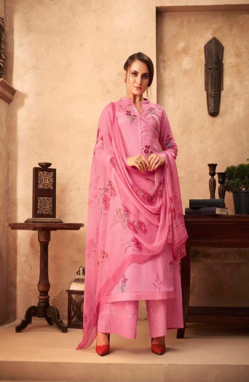 Esta Designs Presents Incense Digital Printed Modal Silk With Handwork Salwar Suit 102