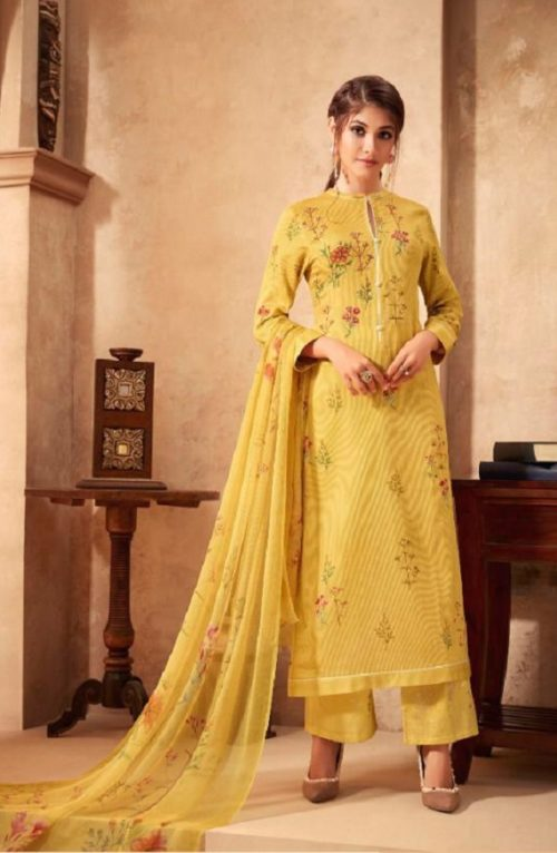 Esta Designs Presents Incense Digital Printed Modal Silk With Handwork Salwar Suit 103