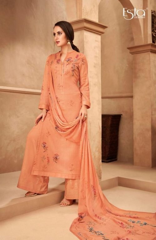 Esta Designs Presents Incense Digital Printed Modal Silk With Handwork Salwar Suit 109