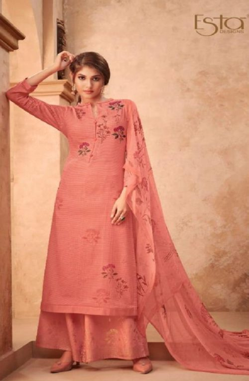 Esta Designs Presents Incense Digital Printed Modal Silk With Handwork Salwar Suits 106