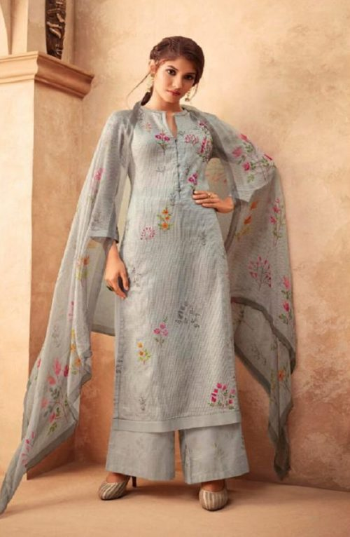 Esta Designs Presents Incense Digital Printed Modal Silk With Handwork Salwar Suits 112