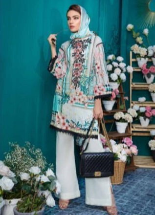 Firdous Solitaire Kurtis 2 Pure Pakistani Cotton Lawn With Embroidery Kurti AGOG 03