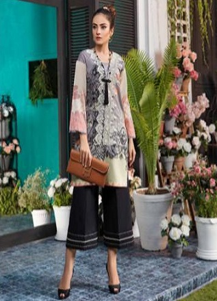 Firdous Solitaire Kurtis 2 Pure Pakistani Cotton Lawn With Embroidery Kurti AGOG 06