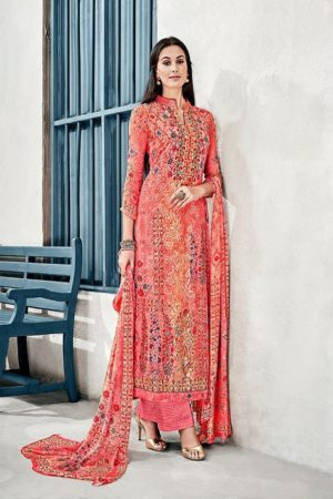 Glossy Presents Irina Lavanya Cotton Muslin Digital Prints With Designer Embroidery Suit 1038