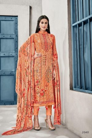 Glossy Presents Irina Lavanya Cotton Muslin Digital Prints With Designer Embroidery Suit 1040