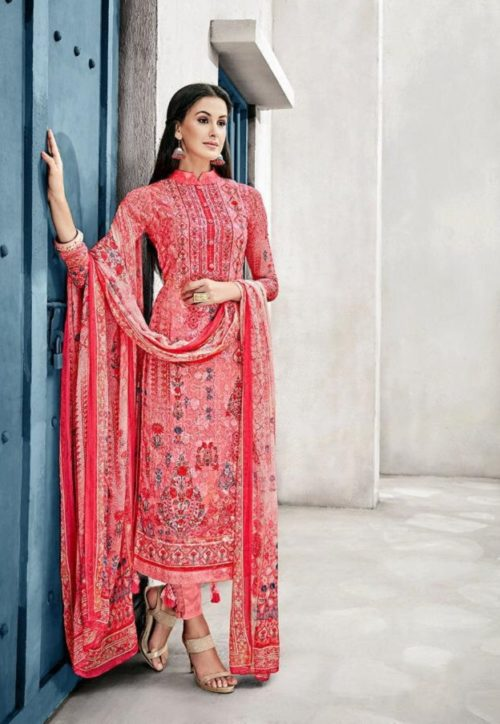 Glossy Presents Irina Lavanya Cotton Muslin Digital Prints With Designer Embroidery Suit 1042