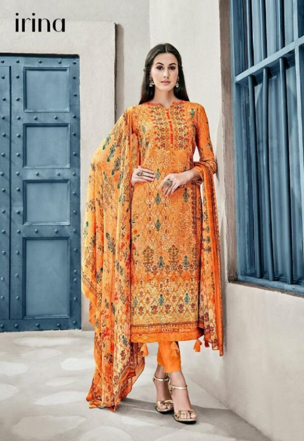 Glossy Presents Irina Lavanya Cotton Muslin Digital Prints With Designer Embroidery SuitS 1036