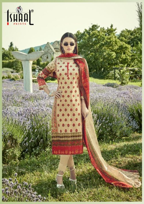 Ishaal Prints Presents Gulmohar Vol 9 Pure Lawn Salwar Suit 9004