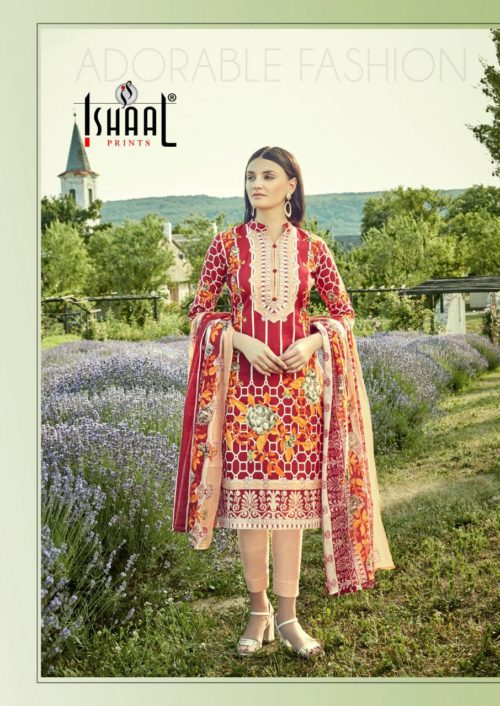 Ishaal Prints Presents Gulmohar Vol 9 Pure Lawn Salwar Suits 9010