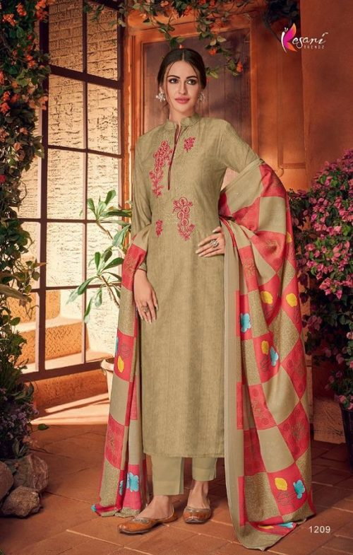 Kesari Trendz Presents Muslin 2 Salwar Suit Maslin Silk Self Embroidered Work 1209