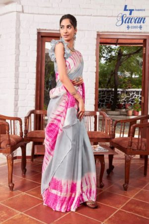 LT Fabrics Presents Savan Kota Checks Designer Printed Saree 2260