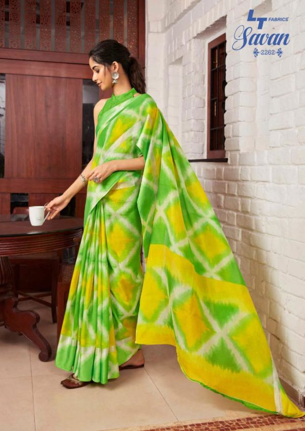 LT Fabrics Presents Savan Kota Checks Designer Printed Saree 2262
