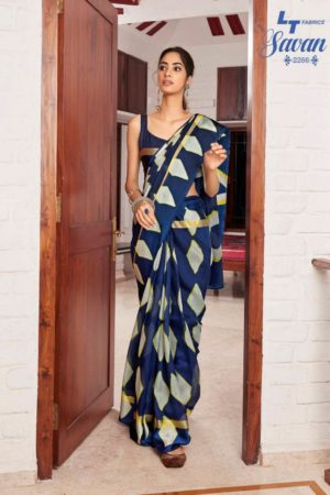 LT Fabrics Presents Savan Kota Checks Designer Printed Saree 2266
