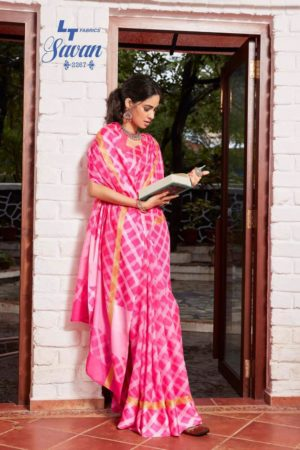 LT Fabrics Presents Savan Kota Checks Designer Printed Saree 2267