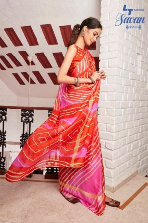 LT Fabrics Presents Savan Kota Checks Designer Printed Saree 2269