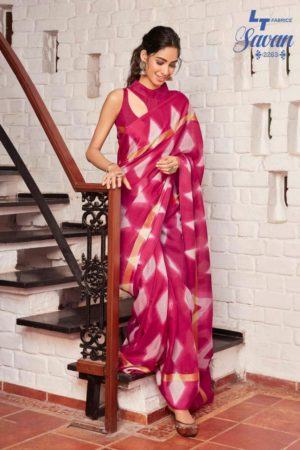 LT Fabrics Presents Savan Kota Checks Designer Printed Sarees 2263