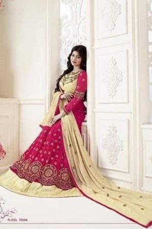 Lavina Rohaani Georgette with Embroidery Semi Stitched Gowns 7004