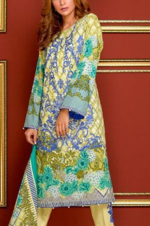 Mysoori Presents Khaddi Embroidered Lawn 5 Pure Pakistani Cotton Lawn With Embroidery Suit 01a