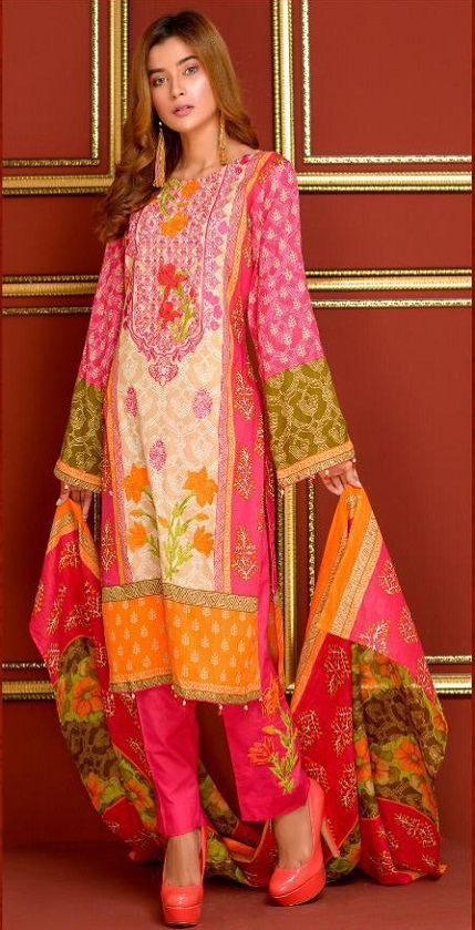 Mysoori Presents Khaddi Embroidered Lawn 5 Pure Pakistani Cotton Lawn With Embroidery Suit 02a