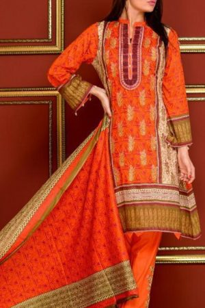 Mysoori Presents Khaddi Embroidered Lawn 5 Pure Pakistani Cotton Lawn With Embroidery Suit 03b