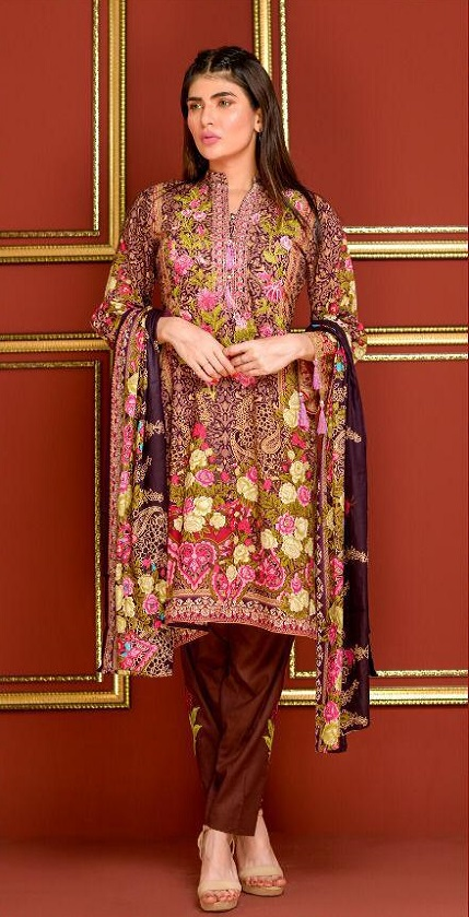 Mysoori Presents Khaddi Embroidered Lawn 5 Pure Pakistani Cotton Lawn With Embroidery Suit 04b