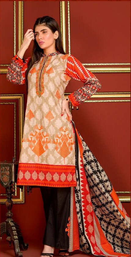 Mysoori Presents Khaddi Embroidered Lawn 5 Pure Pakistani Cotton Lawn With Embroidery Suit 05b