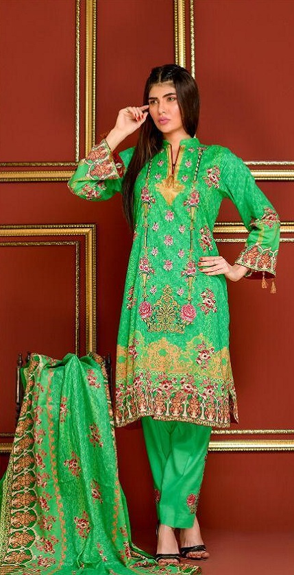 Mysoori Presents Khaddi Embroidered Lawn 5 Pure Pakistani Cotton Lawn With Embroidery Suit 06B
