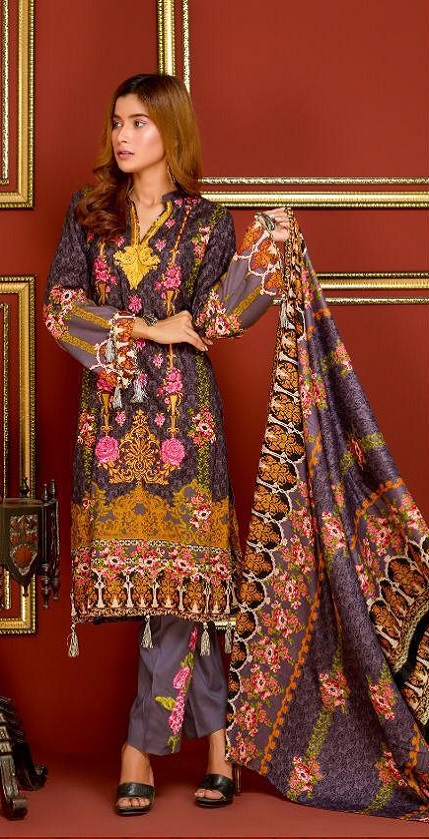Mysoori Presents Khaddi Embroidered Lawn 5 Pure Pakistani Cotton Lawn With Embroidery Suit 06a