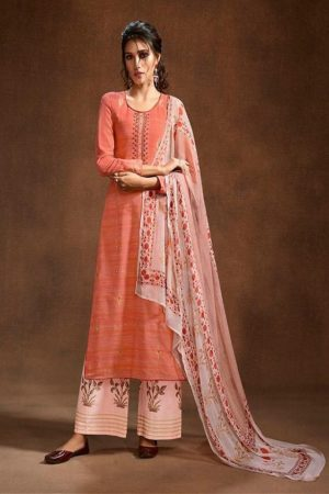 Omtex Mira Hand loom Khadi With Foil Print and Hand Embroidery Salwar Suit 776