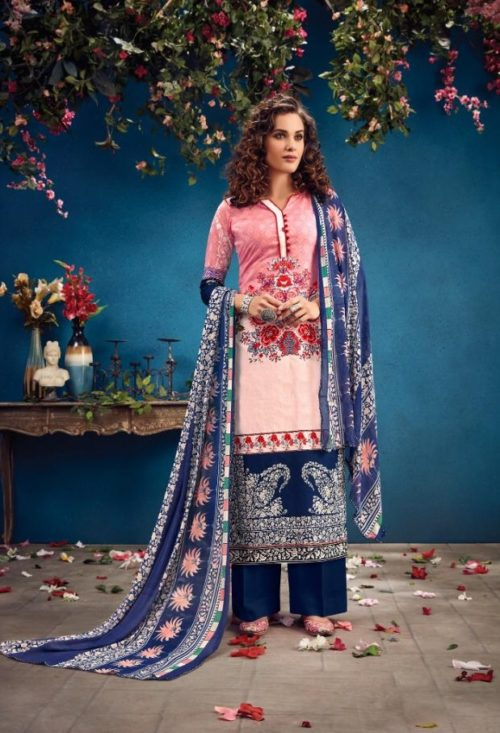Radhika Fashion Presents Azara Vol 34 Pure Cambric Karachi Prints Salwar Suit 34001