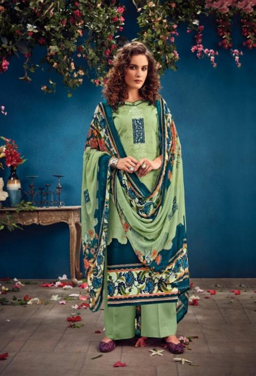 Radhika Fashion Presents Azara Vol 34 Pure Cambric Karachi Prints Salwar Suit 34003