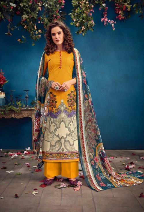 Radhika Fashion Presents Azara Vol 34 Pure Cambric Karachi Prints Salwar Suit 34007